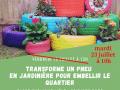 Transforme un pneu en jardinière pour embellir le quartier